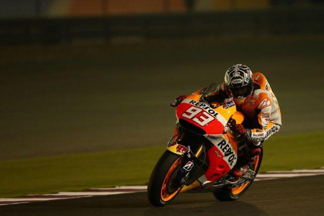 MotoGP卡達季前測試首日:第三快的Marquez力求謹慎